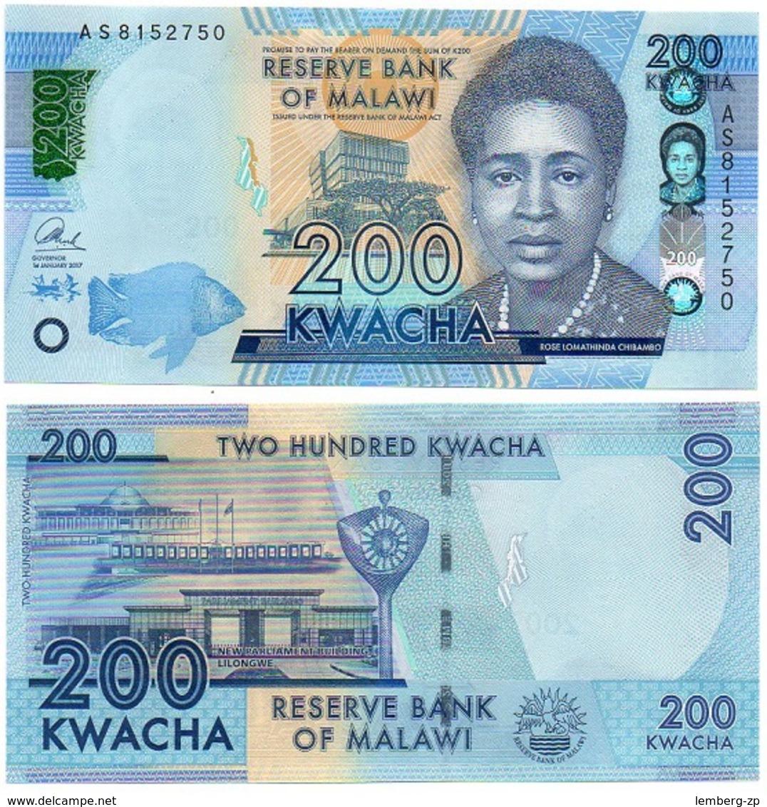 Malawi - 200 Kwacha 2017 UNC Lemberg-Zp - Malawi
