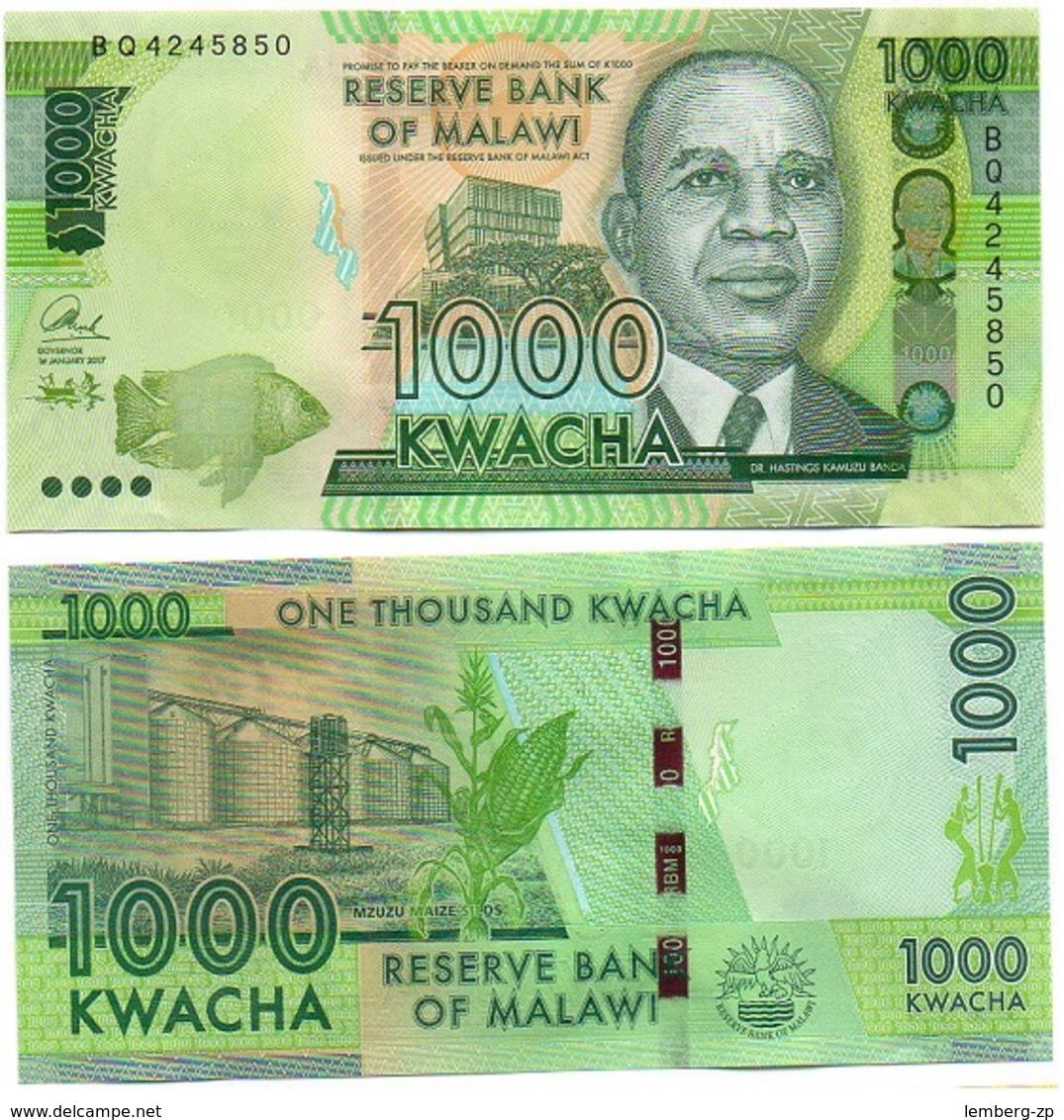 Malawi - 1000 Kwacha 2017 UNC Lemberg-Zp - Malawi