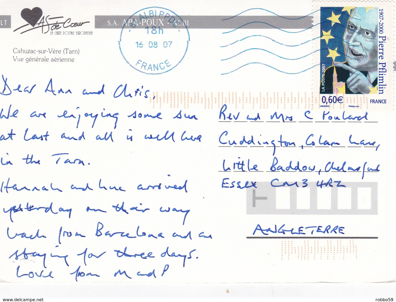 France Cahuzac Sur Vere Postcard Albi 2007 Postmark Used Good Condition - France