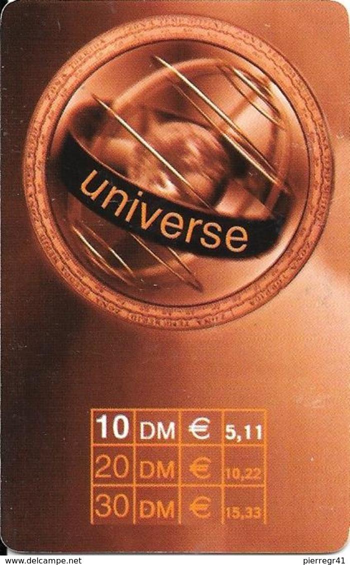 CARTE-PREPAYEE-ALLEMAGNE-10 DM-2002-UNIVERSE-BE - Allemagne