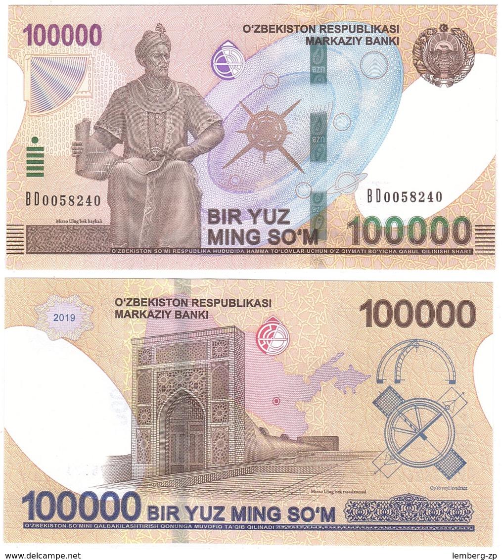 Uzbekistan - 100000 Sum 2019 UNC Lemberg-Zp - Ouzbékistan