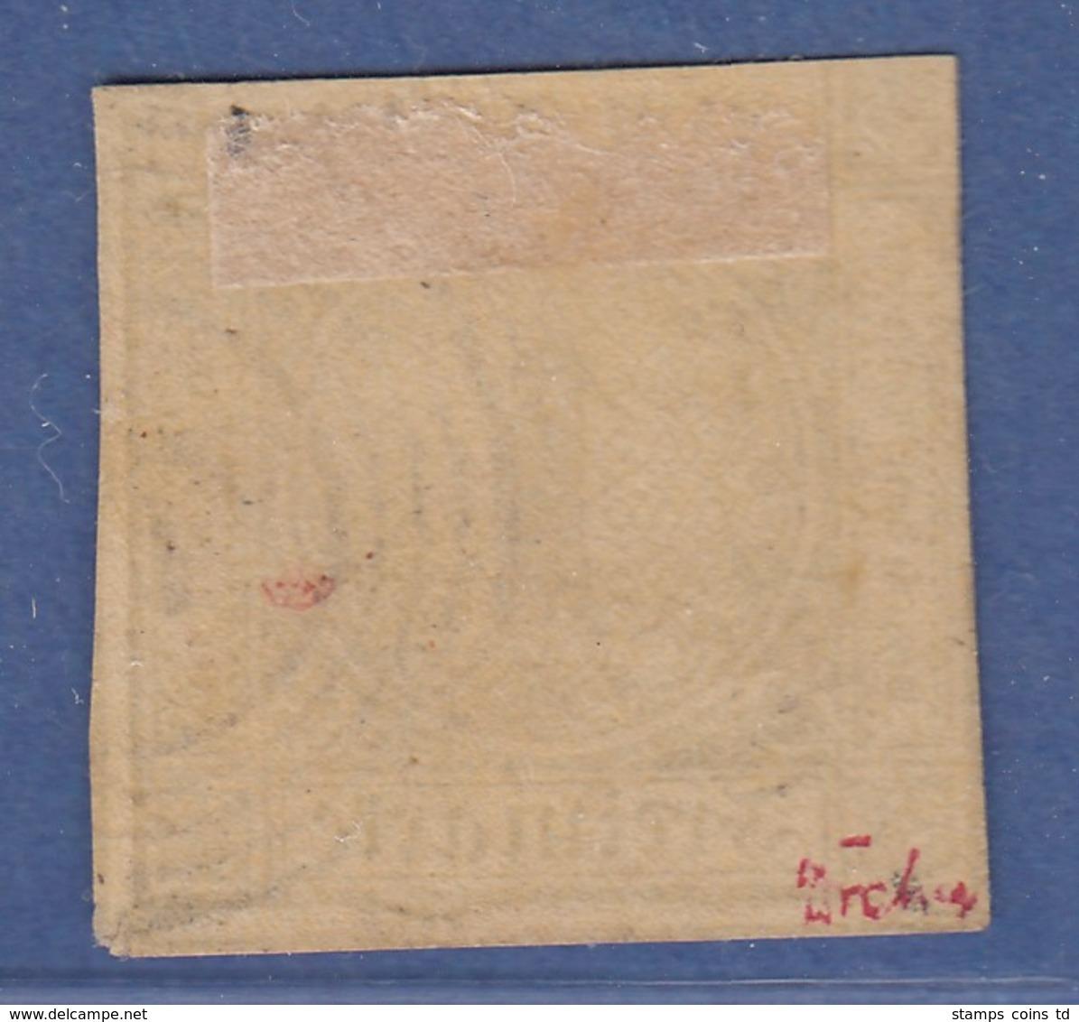 Altdeutschland Baden 1 Kreuzer Braun Mi.-Nr. 1b Gestempelt - Bade