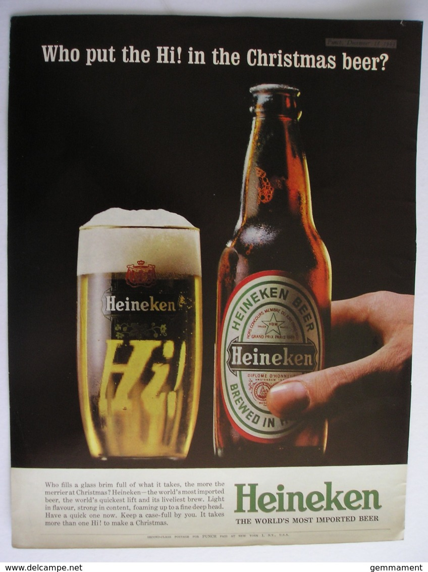 HEINEKEN BEER. ORIGINAL  1963 MAGAZINE ADVERT - Other