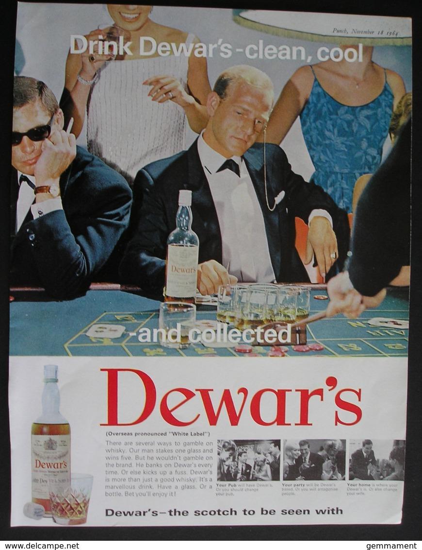 DEWARS WHISKY. ORIGINAL 1964 MAGAZINE ADVERT . - Advertising