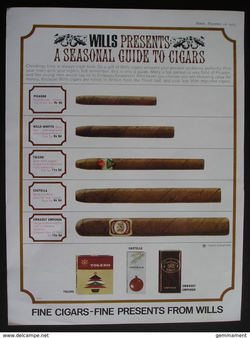 WILS CIGARS. ORIGINAL 1964 MAGAZINE ADVERT . - Advertising