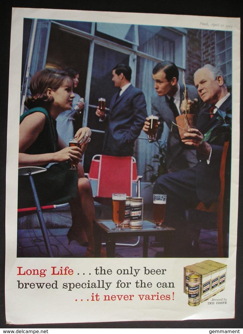 LONG LFE BEER. ORIGINAL 1963 MAGAZINE ADVERT - Advertising