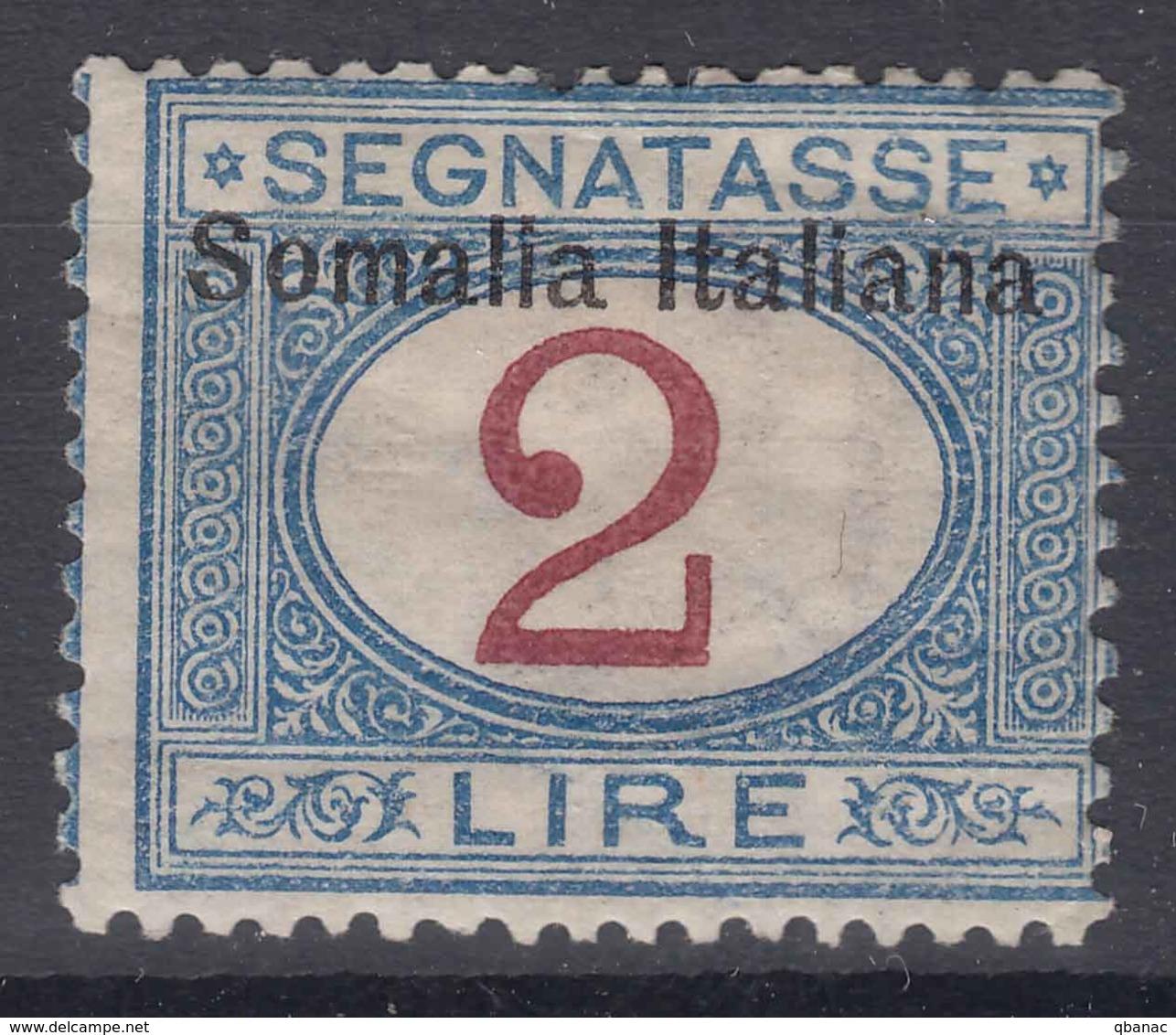 Italy Colonies Somalia 1909 Segnatasse Sassone#20 Mint Hinged - Somalia