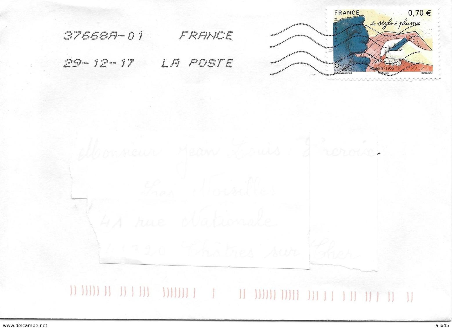 """5102 - LES PLUMES ÉCRITURE - """"le Stylo Et La Plume"""" Extrait Du Bloc F5098 - Marcophilie (Lettres)"""