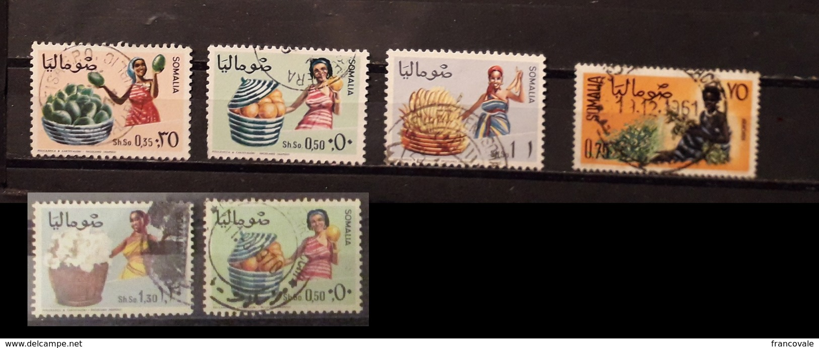 Somalia 1961 - 1968 Fruits And Woman 6 Stamps Used - Somalie (1960-...)
