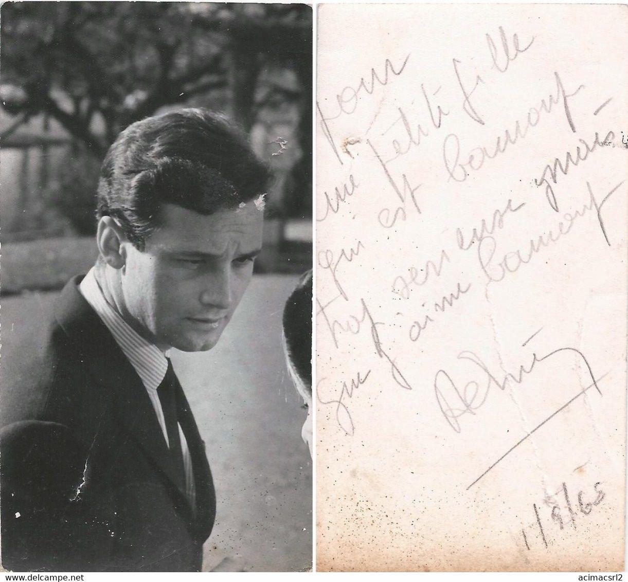 """CINEMA MOVIE ACTORS - American TV Actor ?? """"Unidentified"""" - Vtg Photo 1960' With Autograph Dedicacee ( No Reprint ) - Artistes"""