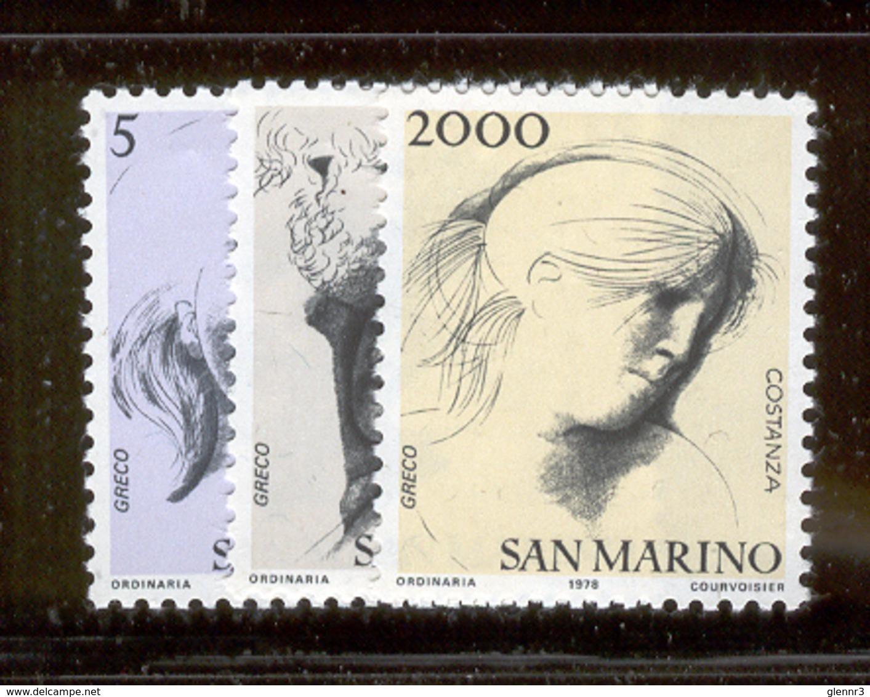 SAN MARINO 1978 Civic Virtues Scott Cat. No(s). 931-933 MNH - San Marino