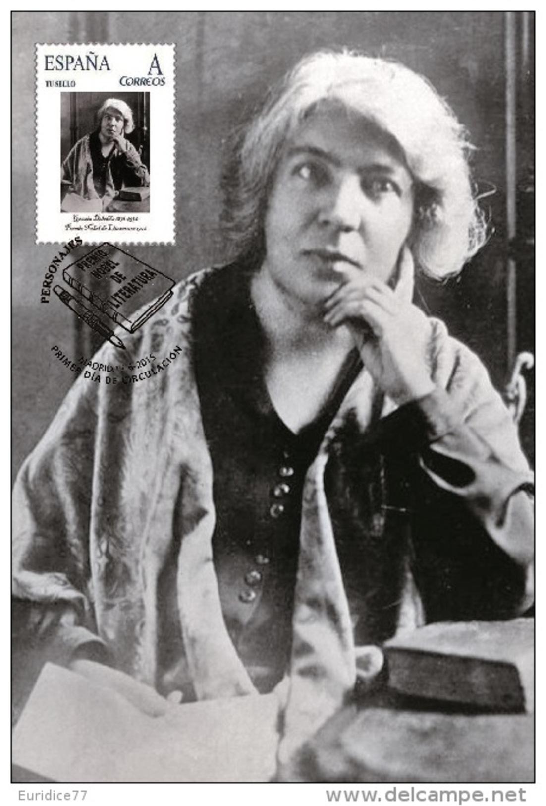 Spain 2015 - Nobel Prize 1926 - Literature - Grazia Deledda/Italy Maxicard - Prix Nobel