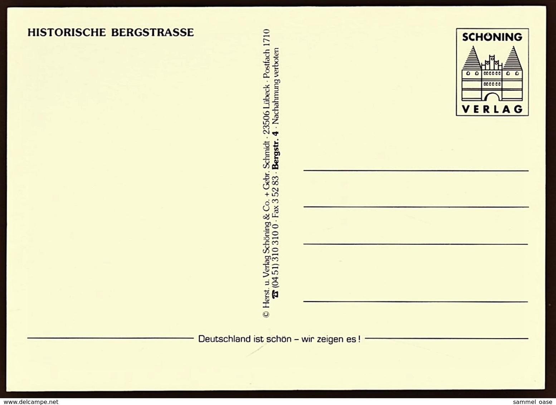 Die Bergstraße  -  Bensheim  -  Heppenheim  -  Weinheim  -  Mehrbild-Ansichtskarte Ca. 1995  (10615) - Bensheim