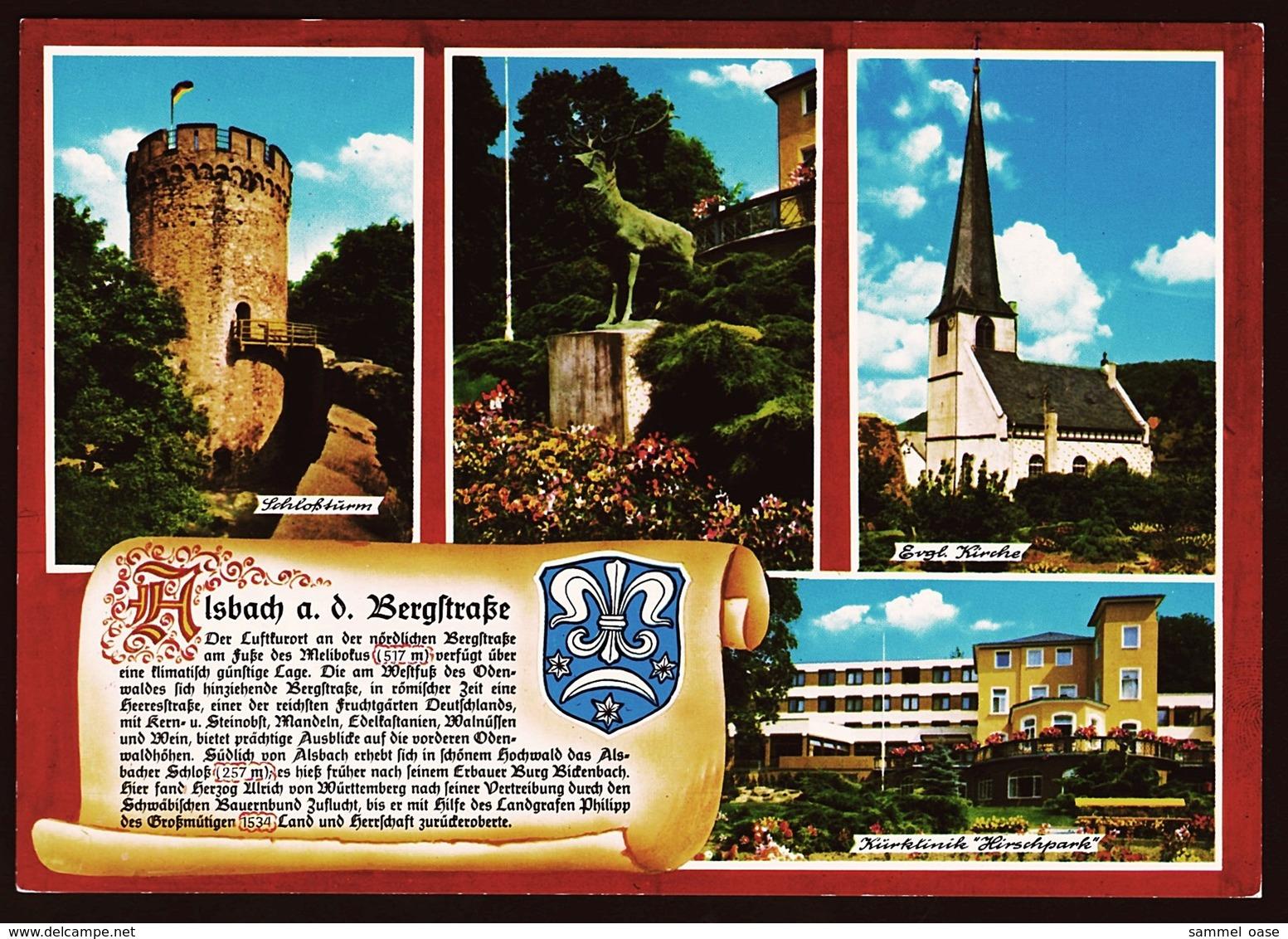 Alsbach A. D. Bergstrasse  -  Mehrbild-Ansichtskarten Ca. 1980    (10616) - Bensheim