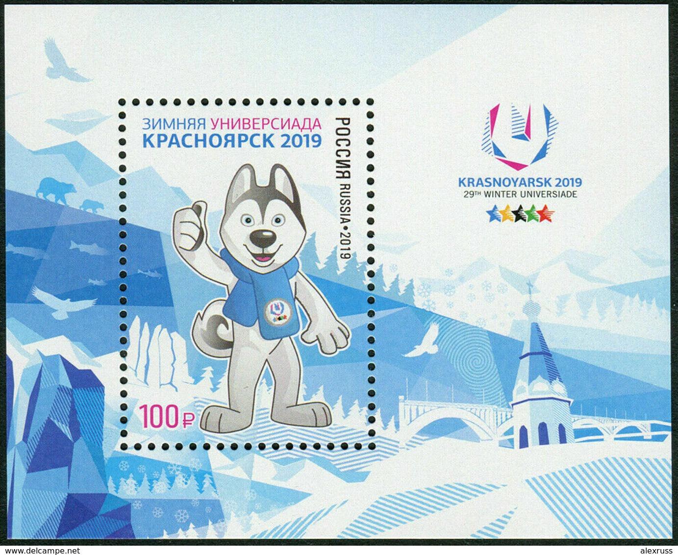 Russia 2019,Souvenir Pack+FDC 29th Winter Universiade 2019 In Krasnoyarsk,# СП901 (AP-5) - 1992-.... Fédération