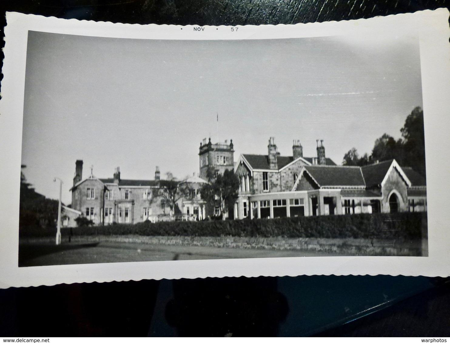 PHOTO ORIGINALE _ VINTAGE SNAPSHOT : ALLARI WATER HOTEL _ BRIDGE Of ALLAN _ ECOSSE _ 1957 - Lieux