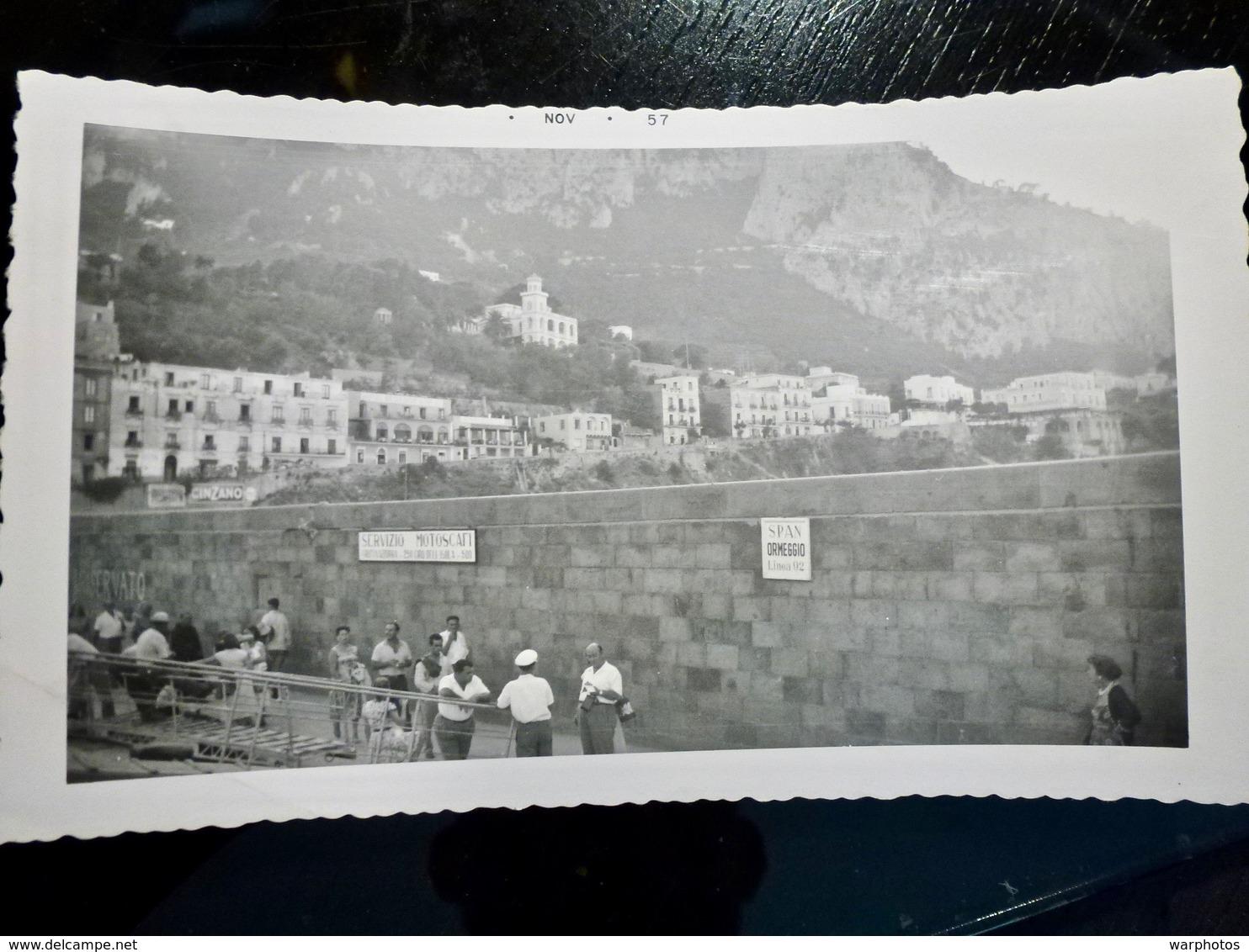 PHOTO ORIGINALE _ VINTAGE SNAPSHOT : CAPRI _ BAIE De NAPLES _ ITALIE _ 1957 - Lieux