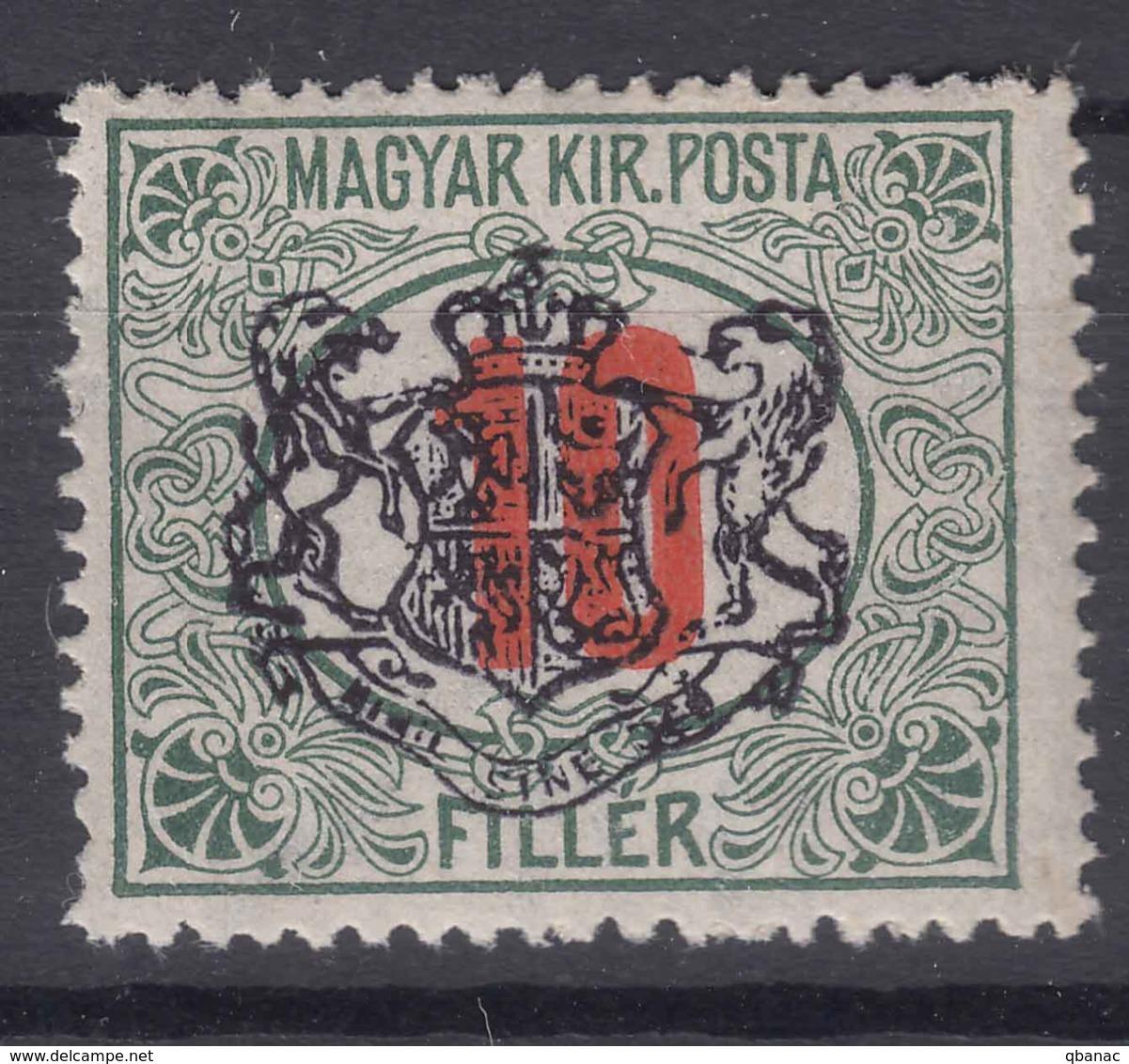 Romania Sibiu 1919 Local Overprint On Hungary Stamp - Roumanie