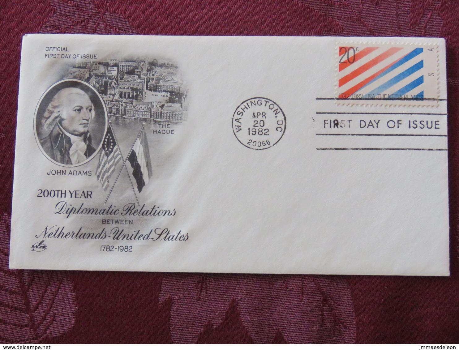 USA 1982 FDC Cover Washington - U.S. - Netherlands Treaty - John Adams - Lettres & Documents