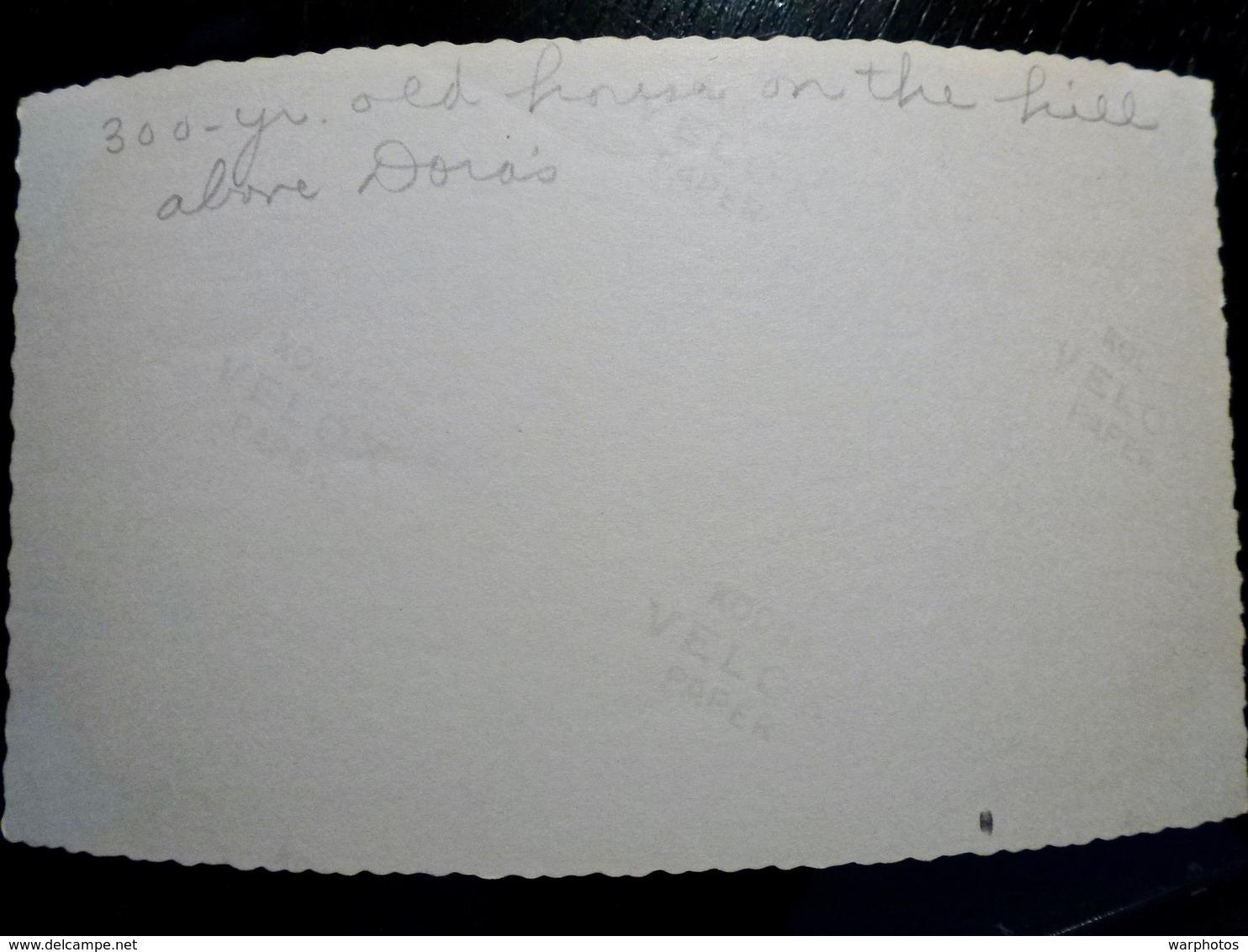 PHOTO ORIGINALE _ VINTAGE SNAPSHOT : MAISON VIEILLE De 300 ANS _ ROYAUME UNI _ 1957 - Lieux