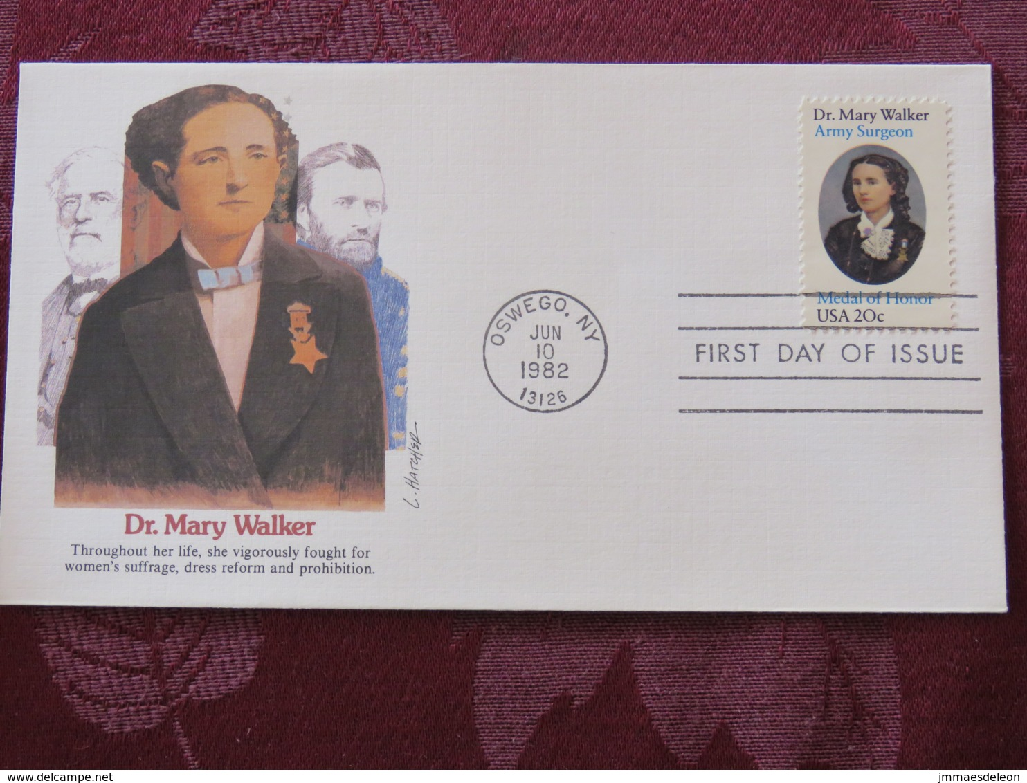 USA 1982 FDC Cover Oswego - Dr. Mary Walker - Women Rights - Etats-Unis