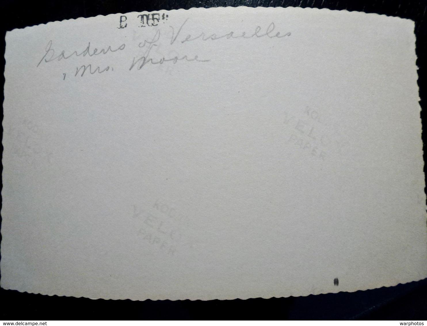 PHOTO ORIGINALE _ VINTAGE SNAPSHOT : JARDINS Du CHATEAU De VERSAILLES _ FRANCE _ 1957 - Lieux