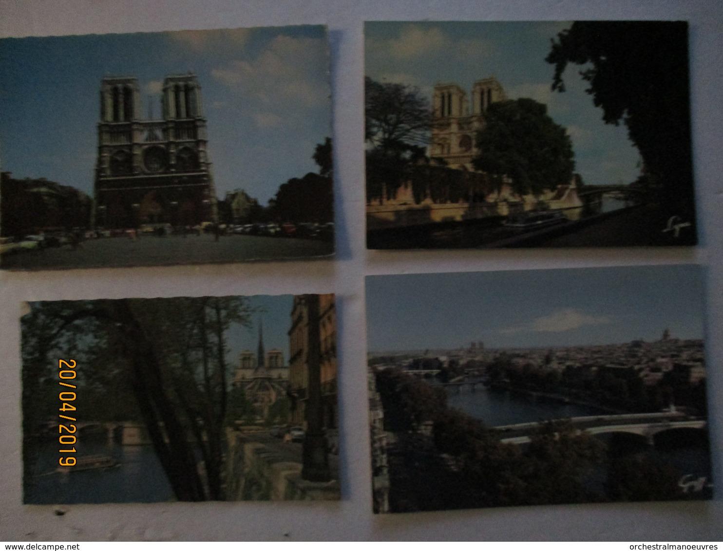 DT 75 LOT 4 CPA CP CPSM 4 EME ARRT  CATHEDRALE NOTRE DAME DE PARIS Th Religion Eglise - Notre Dame De Paris