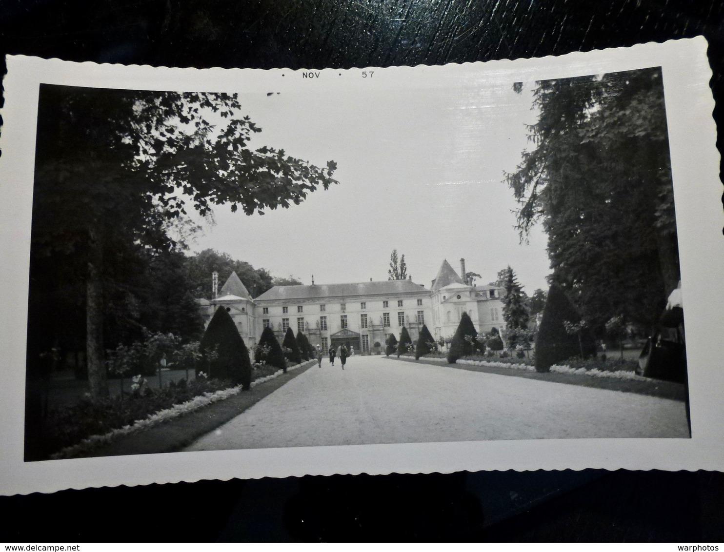 PHOTO ORIGINALE _ VINTAGE SNAPSHOT : CHATEAU De MALMAISON à RUEIL MALMAISON _ HAUTS De SEINE _ FRANCE _ 1957 - Lieux