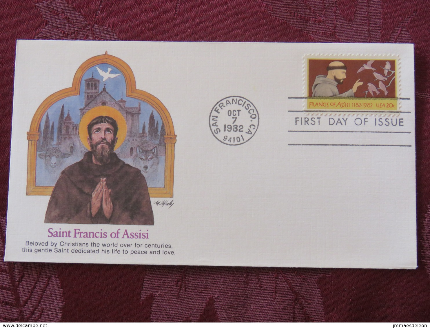 USA 1982 FDC Cover San Francisco - Saint Francis Of Assisi - Birds - Lettres & Documents
