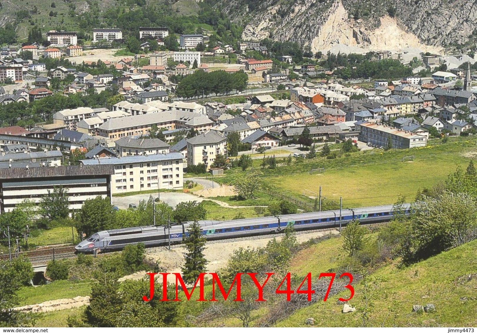 """CPM - Le TGV. R. Rame 4502, """" Alessandro Manzoni """" Paris-Lyon - Milano-Centrale - Ville De Modane (73) - Photo R. GIBIAT - Trains"""