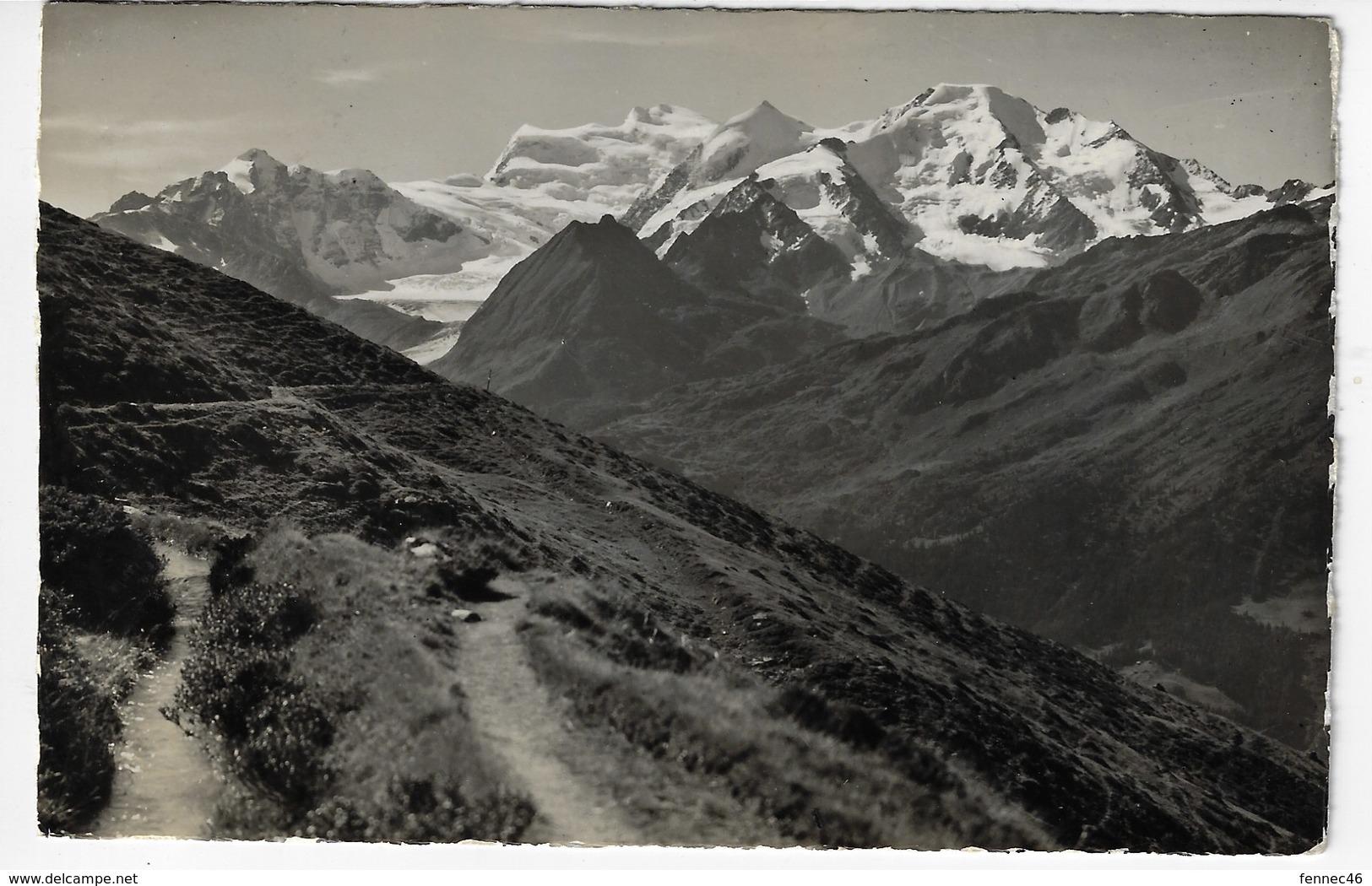 SUISSE - VERBIER - Le Massif Des Combins Vu Du Sentier Du Bisse - 1950 (A25) - VS Valais
