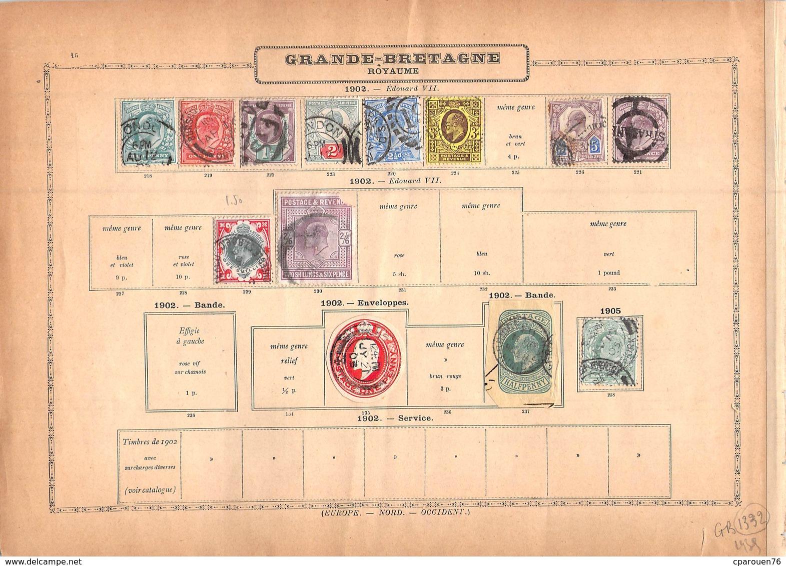 Timbres > Europe > Grande-Bretagne > 1840-1901 LOT 70 TIMBRES ANCIENS - Collezioni