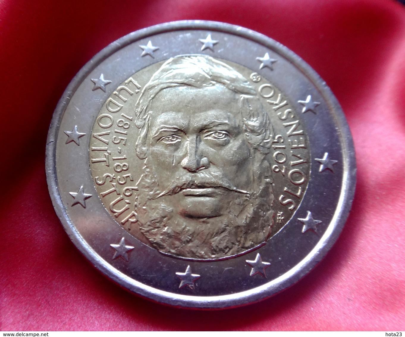 Slovakia 2 Euro 2015 Ludovit Stur  Coin  CIRCULATED - Eslovaquia