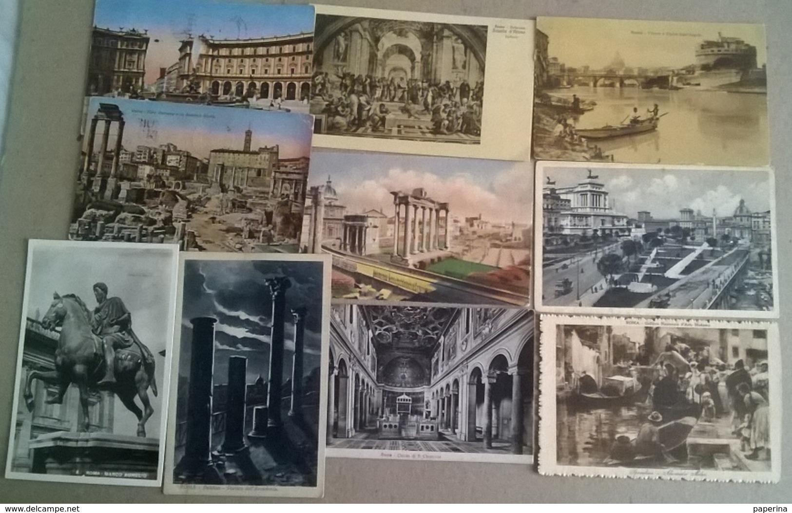 10 CART. ROMA (122) - Cartoline