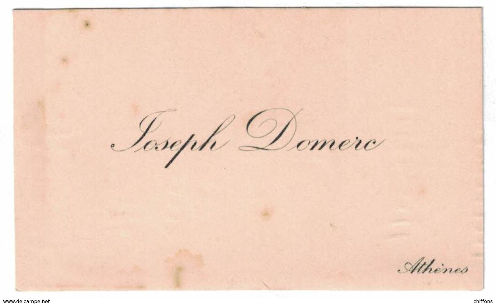 JOSEPH DEMERC ATHENES - Cartes De Visite