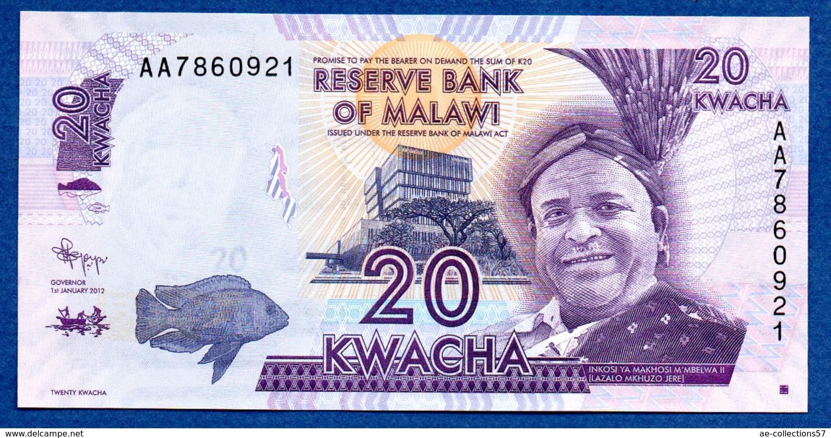 Malawi  -  20 Kwacha   - état  UNC - Malawi