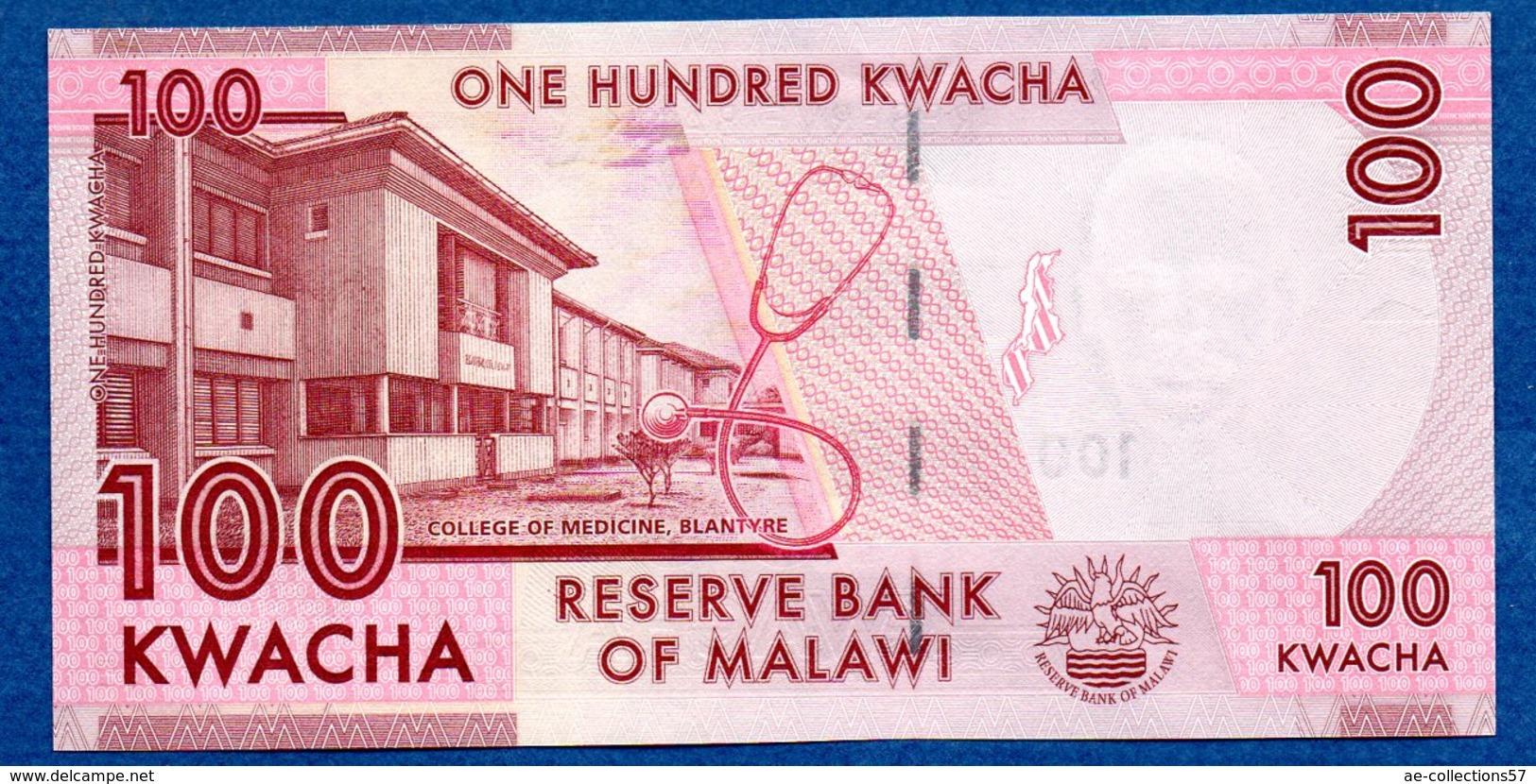 Malawi  -  100 Kwacha   - état  SPL - Malawi