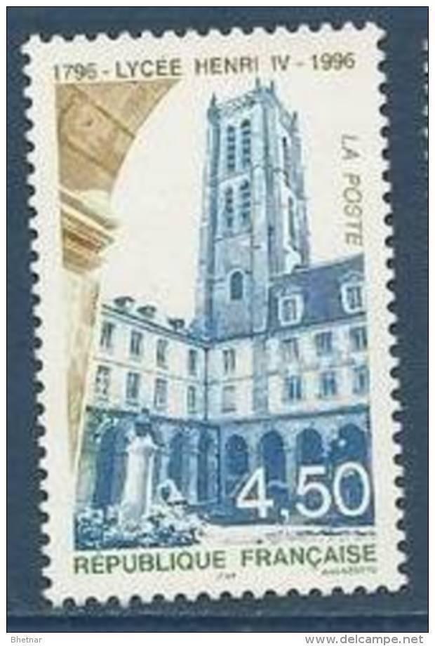 "FR YT 3032 "" Lycée Henri IV "" 1996 Neuf** - Neufs"