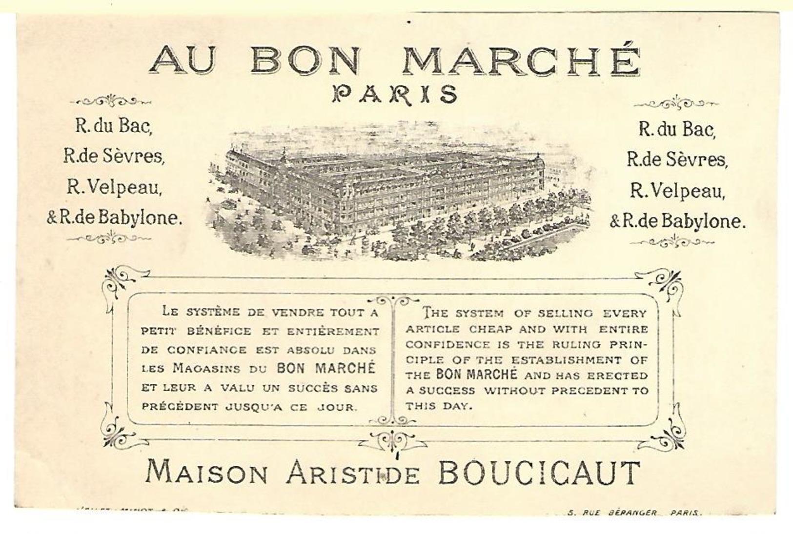 CHROMO AU BON MARCHE FILLETTE JEU CERCEAU - Au Bon Marché