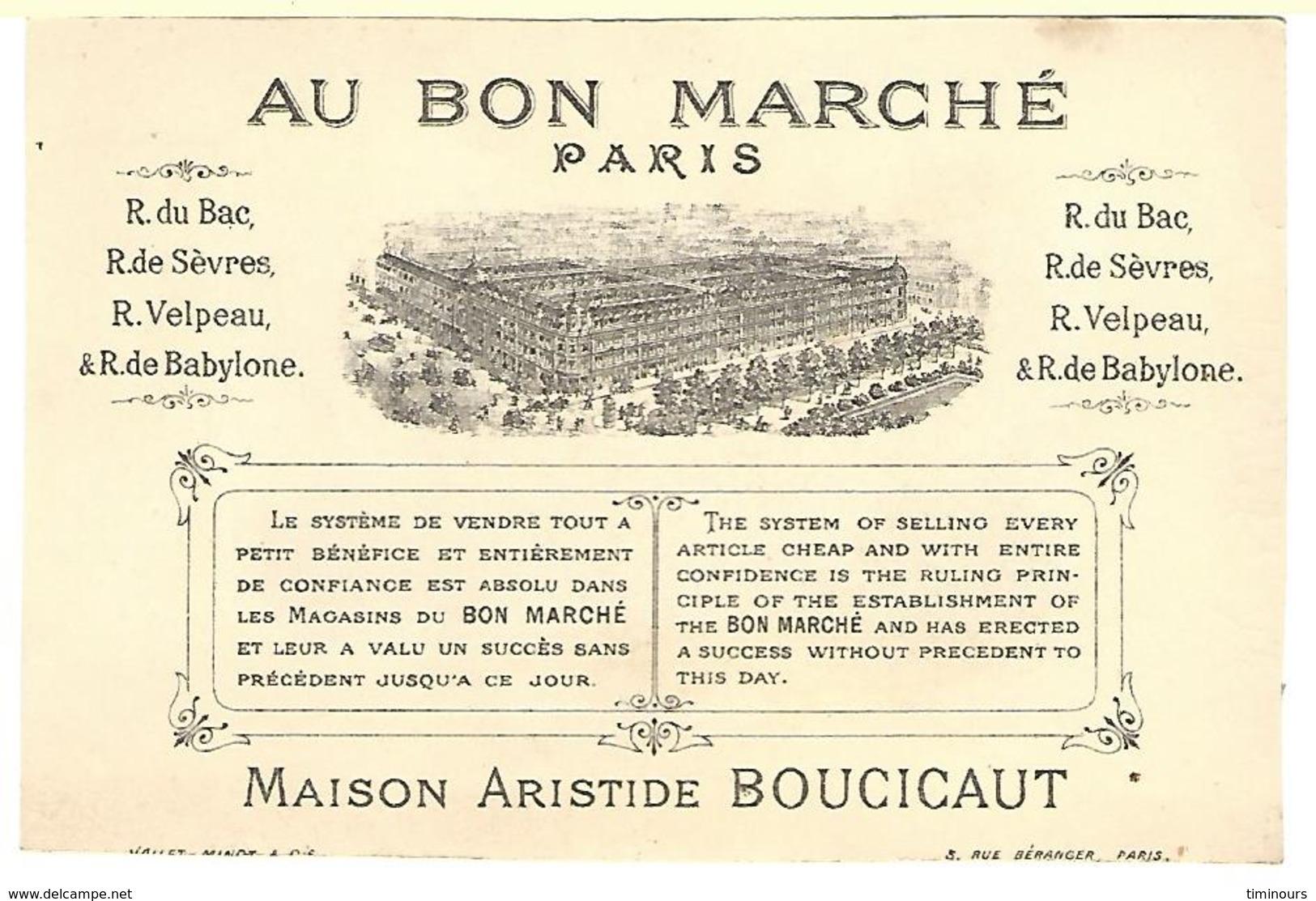 CHROMO AU BON MARCHE FILLETTES JEU ATTELAGE - Au Bon Marché