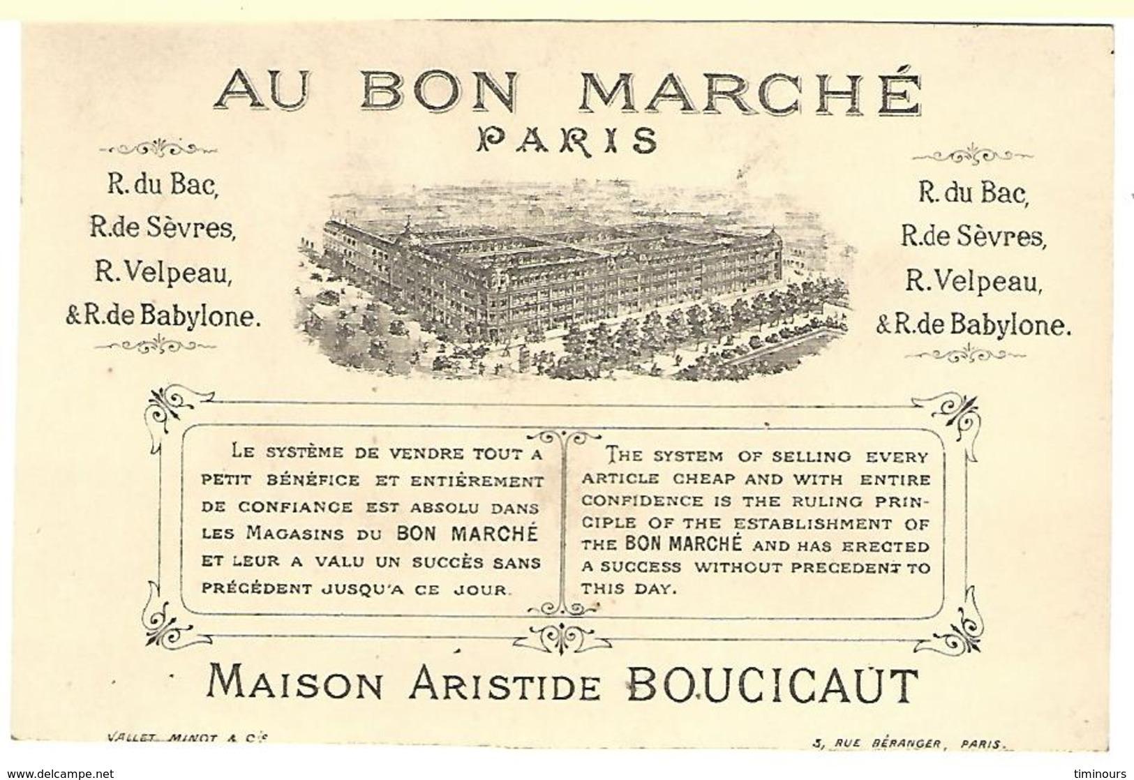 CHROMO AU BON MARCHE FILLETTES JEU BALLON - Au Bon Marché
