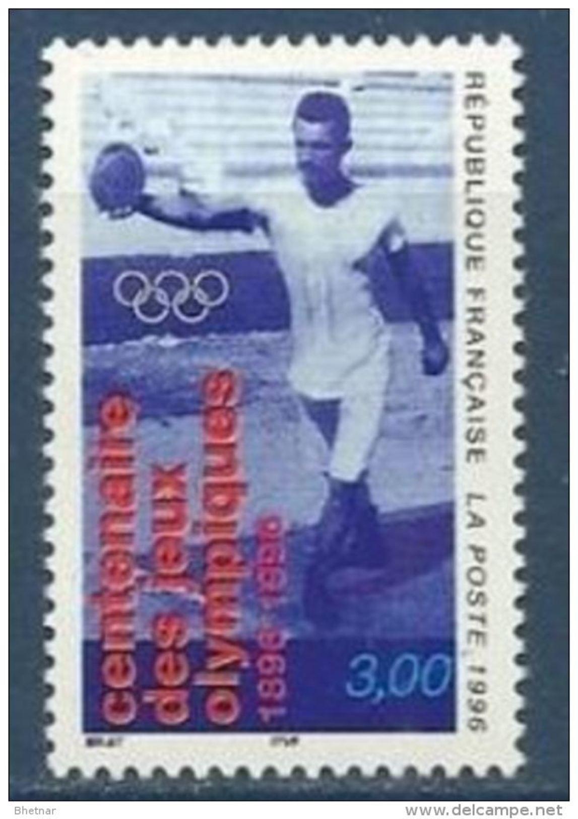 """FR YT 3016 """" Centenaire Des Jeux Olympiques """" 1996 Neuf** - Neufs"""