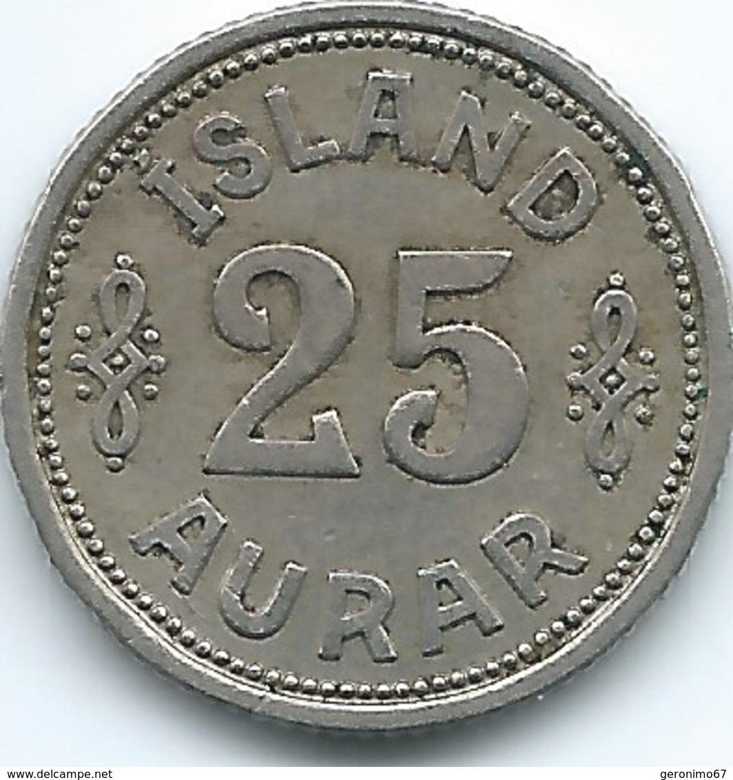 Iceland - Christian X - 25 Aurar - 1940 (KM2.2) - Iceland