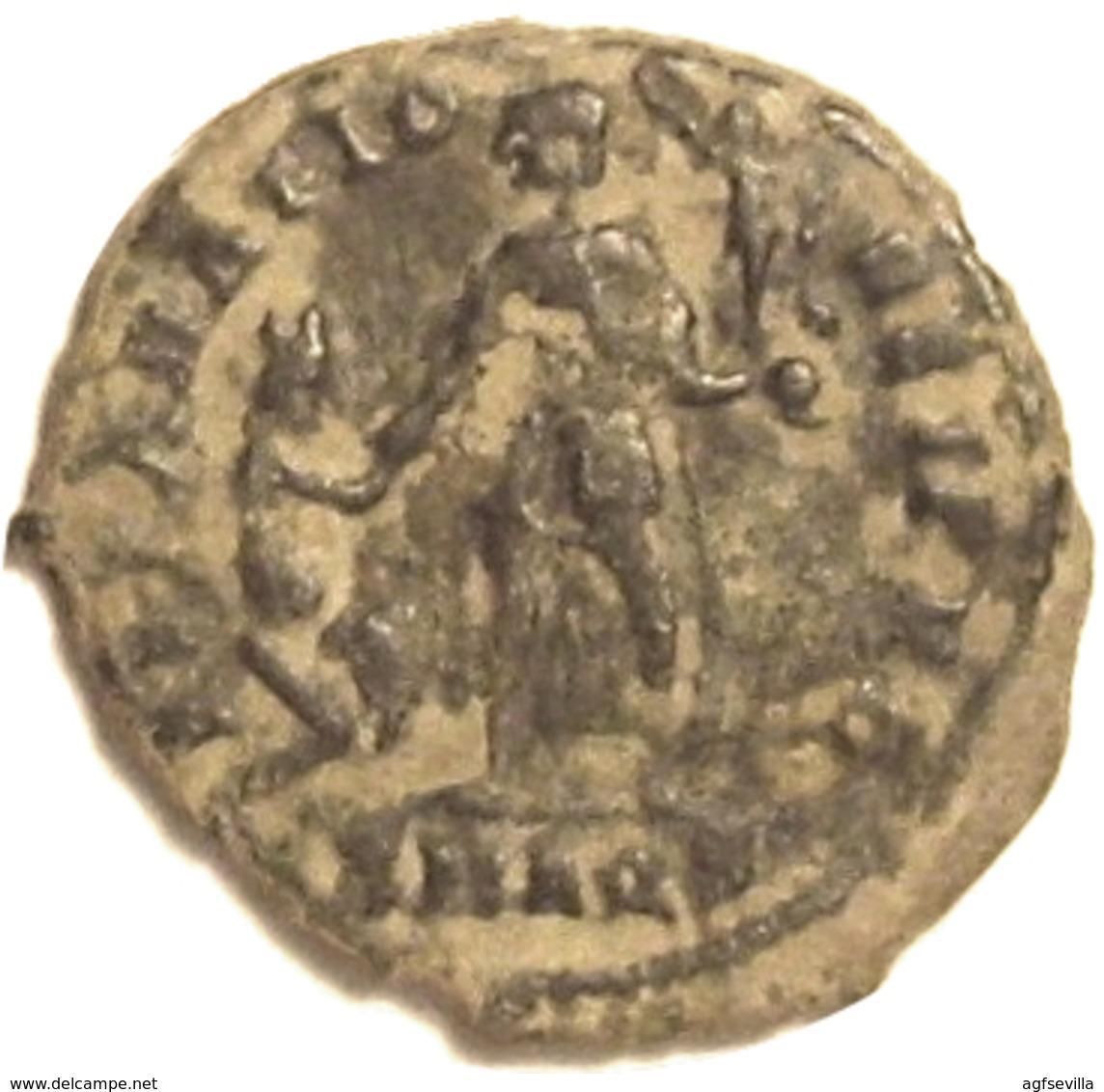 IMPERIO ROMANO. VALENTINIANO II (375-392 D.c.). MAIORINA. REPARATIO REI PVB. ROMAN EMPIRE - 8. El Bajo Imperio Romano (363 / 476)