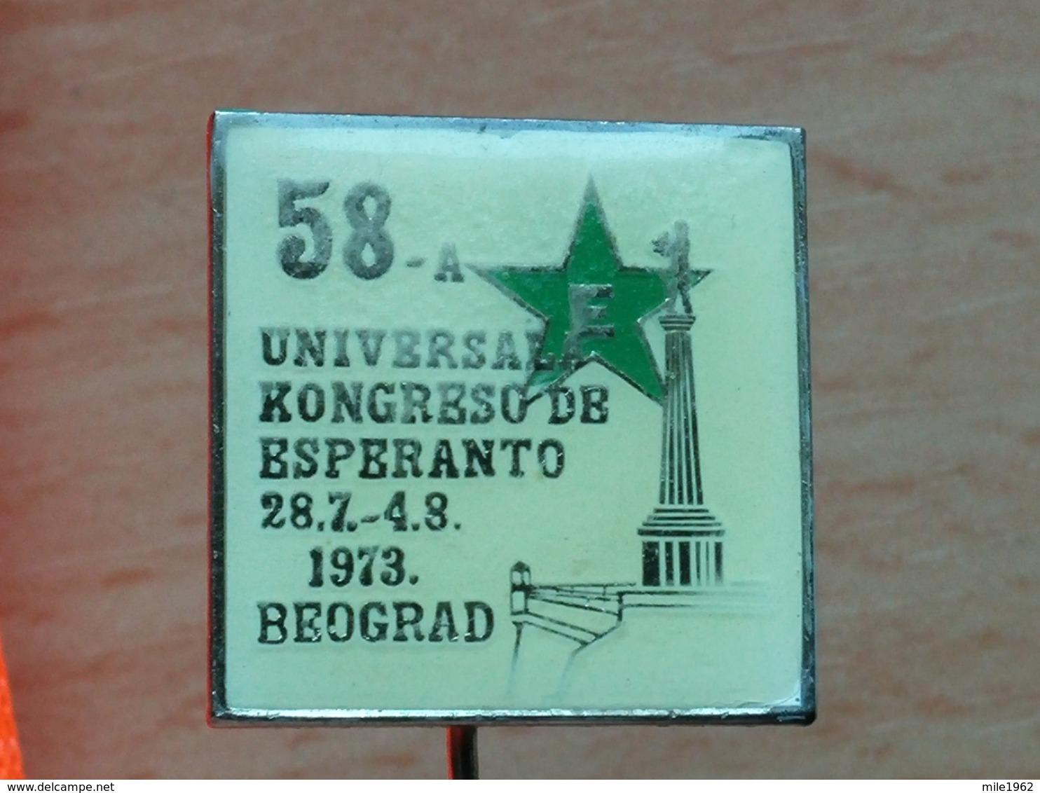 List 102 - ESPERANTO UNIVERSALA KONGRESO, BELGRADE, BEOGRAD SERBIA - Autres