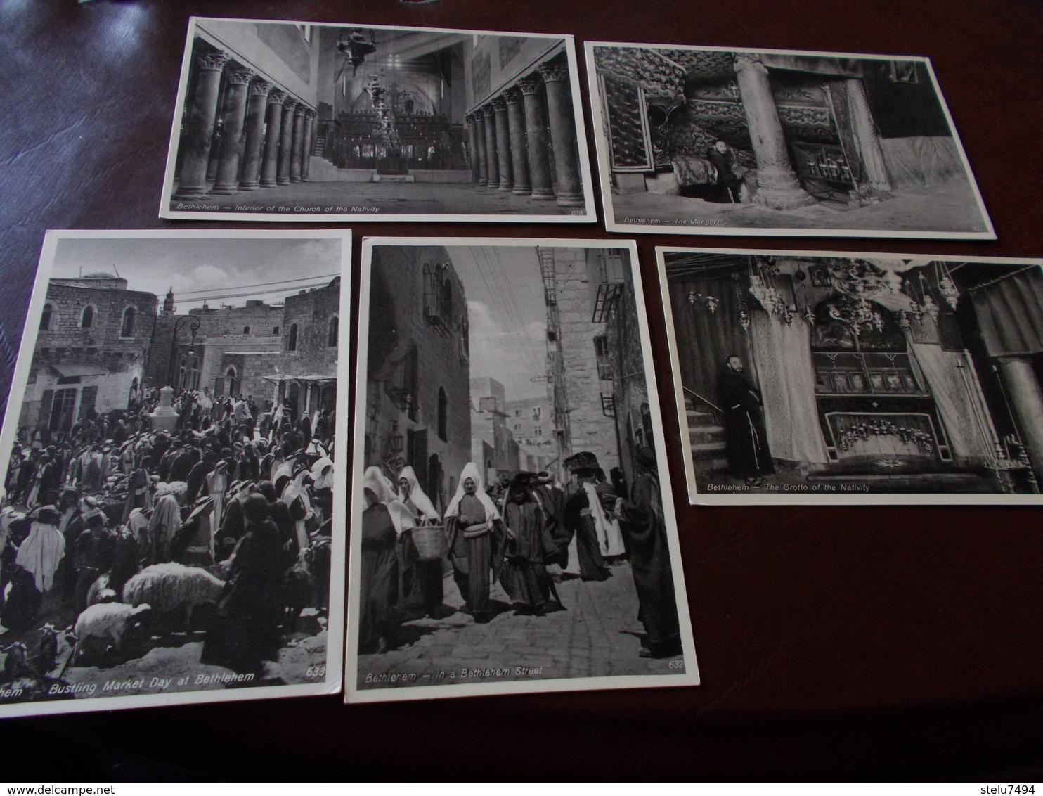 B723   5 Cartoline Betlemme Cm14x9 - Israele
