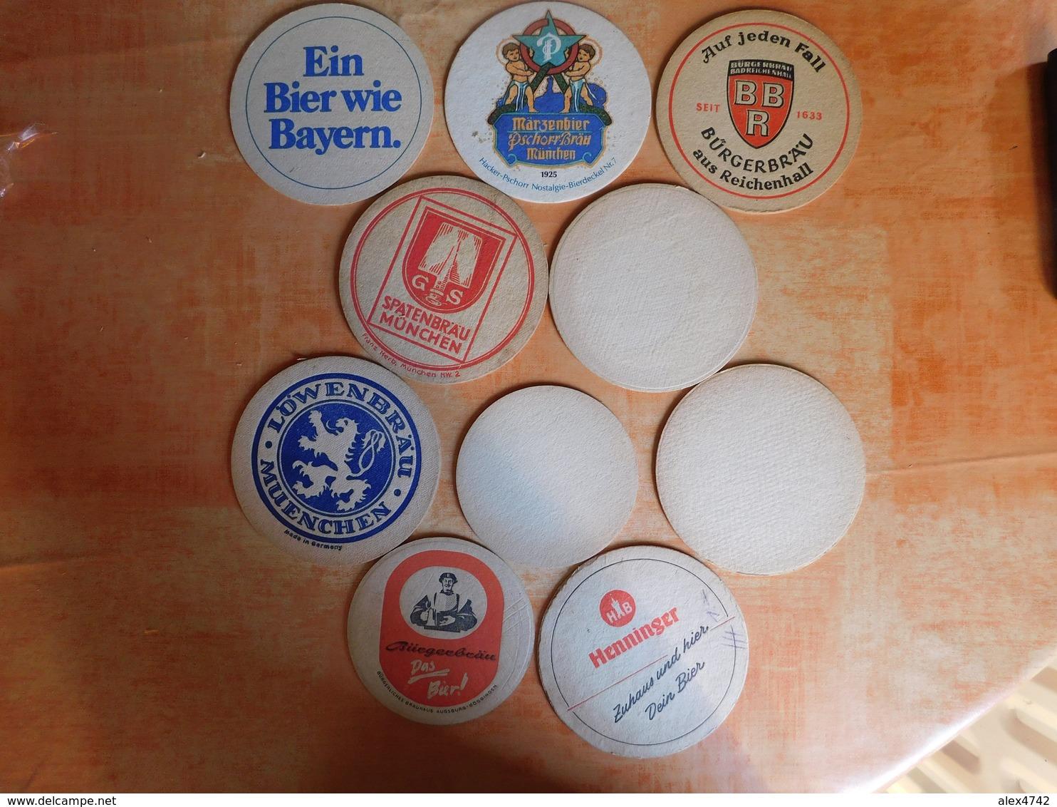 10 Sous-bocks Bières Allemandes  (box3-4) - Sous-bocks