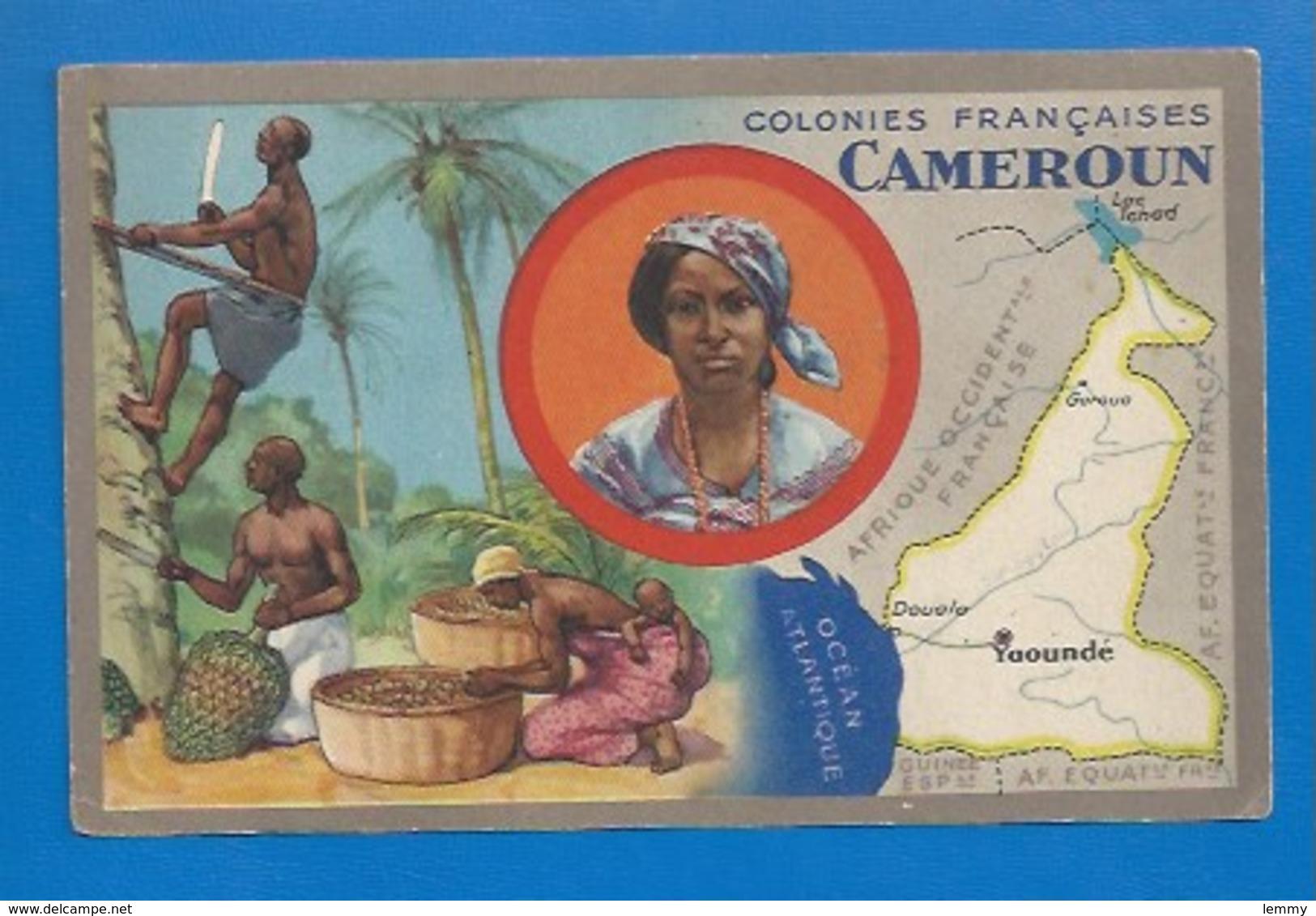 COLONIES FRANÇAISES - PUBLICITÉ ED. PRODUITS LION NOIR - CHROMO : LE CAMEROUN - Zonder Classificatie