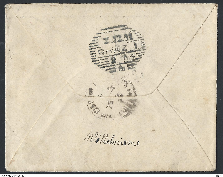 819d.International Simple Closed Letter. Mail 1899 Wolbórz (commune Of Petrokov Province, Poland) Graz (Austria). Rarity - 1857-1916 Empire