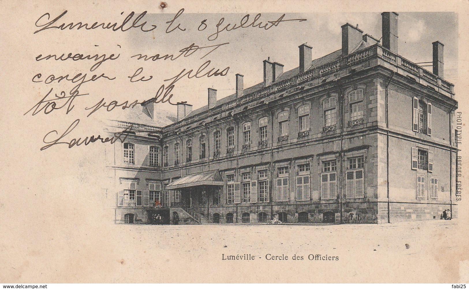 LUNEVILLE CERCLE DES OFFICIERS - Luneville